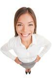 Sourire de verticale de femme d'affaires Photographie stock
