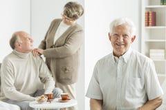 Sourire de vieil homme Photographie stock
