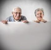 Sourire de vieil homme et de femme Photo libre de droits