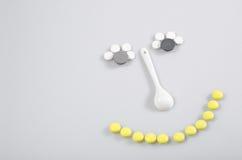 Sourire des comprimés Image libre de droits