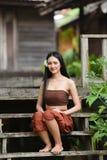 Sourire des femmes de l'Asie Image stock