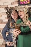 Sourire deux d'amie Photographie stock