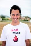 Sourire donar de sang heureux Images stock