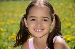 Sourire doux de fille Images libres de droits
