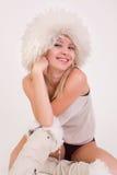 sourire drôle d'équipement de fille de disco Photographie stock libre de droits