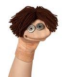 Sourire drôle de marionnette Photos stock