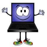 Sourire drôle d'ordinateur de dessin animé Images libres de droits
