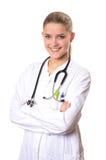 Sourire femelle de docteur Images libres de droits