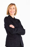 sourire femelle de gestionnaire d'affaires photos stock