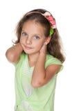 Sourire fille assez petite Photographie stock libre de droits