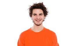 Sourire frais génial de verticale de jeune homme Photo libre de droits