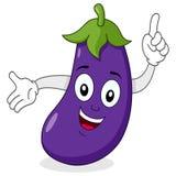 Sourire heureux de caractère d'aubergine Image libre de droits