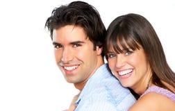 sourire heureux de couples Images libres de droits