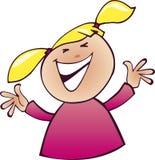 Sourire heureux de fille illustration libre de droits