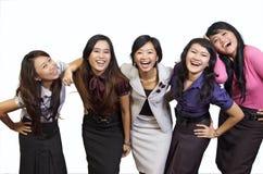 Sourire heureux de groupe Images libres de droits