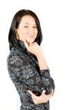 Sourire heureux de jeune femme Photo libre de droits