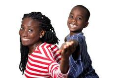 Sourire heureux de mère et d'enfant photo libre de droits