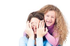 Sourire heureux de mère et de descendant Image stock