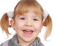 Sourire heureux de petite fille Image stock