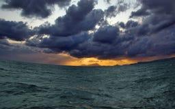 Sourire impressionnant de la mer photographie stock