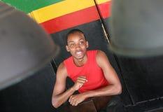 Sourire jamaïquain d'homme Photos libres de droits