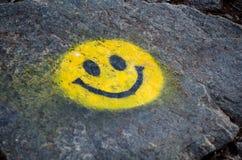 Sourire jaune photo stock