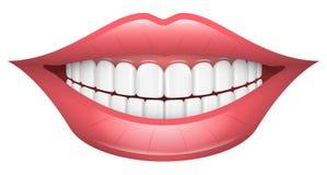Sourire, lèvres, bouche, dents illustration de vecteur
