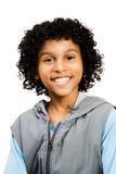 sourire latin de garçon américain Photographie stock