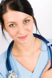 Sourire médical d'infirmière de docteur de femme jeune Images libres de droits
