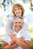 Sourire mûr de couples Images libres de droits