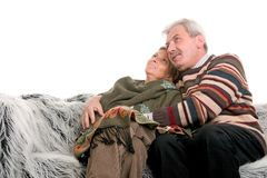Sourire mûr de couples Photos stock
