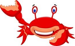 Sourire mignon de bande dessinée de crabe illustration de vecteur
