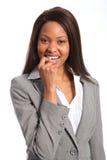 Sourire mignon de beau femme ethnique d'affaires images libres de droits
