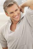 Sourire modèle mâle Photo libre de droits
