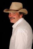 sourire moyen âgé de cowboy photographie stock libre de droits