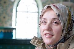 Sourire musulman de femme photo libre de droits