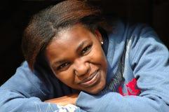 Sourire noir de fille Photos libres de droits