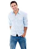 Sourire occasionnel d'homme Photographie stock