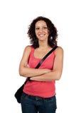 Sourire occasionnel de femme Image stock
