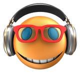 sourire orange de l'émoticône 3d Images stock