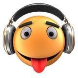 sourire orange de l'émoticône 3d Images libres de droits