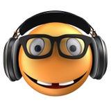 sourire orange de l'émoticône 3d Photo libre de droits