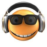 sourire orange de l'émoticône 3d Image libre de droits