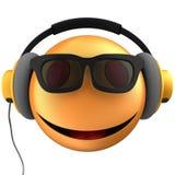 sourire orange de l'émoticône 3d Photographie stock