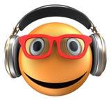 sourire orange de l'émoticône 3d Photo stock