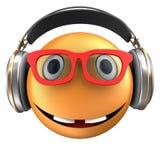 sourire orange de l'émoticône 3d Photos libres de droits