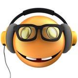 sourire orange de l'émoticône 3d Image stock