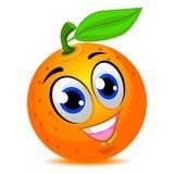 Sourire orange de mascotte de fruit illustration libre de droits