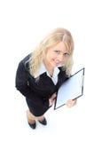 Sourire positif de femme d'affaires Photographie stock libre de droits