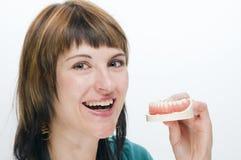 Sourire pour propres dents Images stock